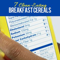 7 Clean Eating Breakfast Cereals--no more reaching for cereals packed with refined sugar!  #healthy #breakfast #cereal
