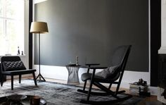 Mit Schwarz Wohnen: Schwarze Wandfläche Als Blickfang