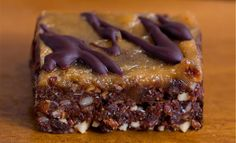 Secretly healthy chocolate brownie bars that can be oil-free, sugar-free, raw, paleo, vegan, and gluten-free!