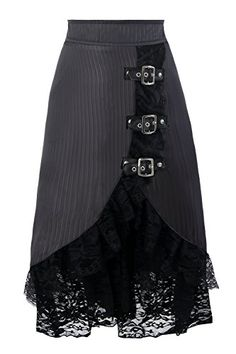 Top Gothic Fashion Tips To Keep You In Style. As trends change, and you age, be willing to alter your style so that you can always look your best. Consistently using good gothic fashion sense can help Dress Skirt, Lace Skirt, Dress Up, Satin Skirt, Barbie Mode, Steampunk Skirt, Diy Mode, Black Midi Skirt, Party Skirt