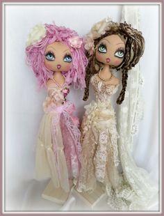 Shabby chic mannequin dolls