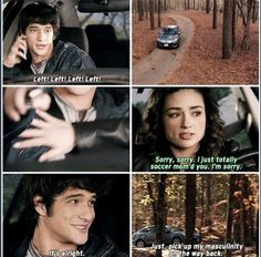 Teen wolf Both Allison and Kira have a mom moment with Scott. Teen Wolf Memes, Teen Wolf Quotes, Teen Wolf Funny, Teen Wolf Dylan, Teen Wolf Stiles, Teen Wolf Cast, Dylan O'brien, Alphabet A, Scott Mccall