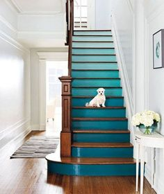 Beautiful Painted Staircase Ideas for Your Home Design Inspiration. see more ideas: staircase light, painted staircase ideas, lighting stairways ideas, led loght for stairways. Painted Stairs, House Design, Decor, Stair Art, House, Home, Ombre Interior, Popular Decor, Home Decor