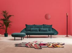 Buy online Lem | 3 seater sofa By miniforms, 3 seater fabric sofa design Francesco Beghetto, lem Collection