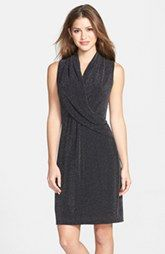 Marc New York by Andrew Marc Metallic Knit Fit & Flare Dress