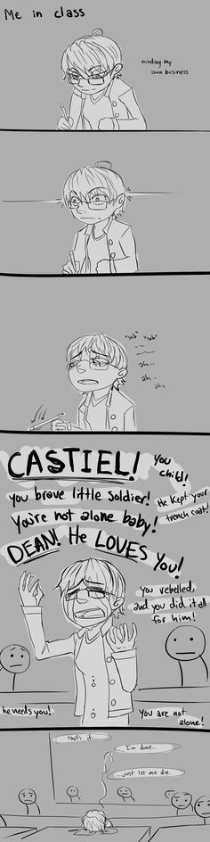 The Destiel feelings can strike anywhere. At anytime. And without reason.  (This happens to me several times a week.)