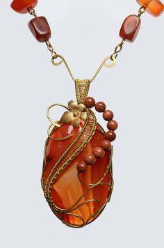 GLEAM, Handmade Wire Wrapped Jewellery Necklace   Vimala Handmade Jewellery and Craft