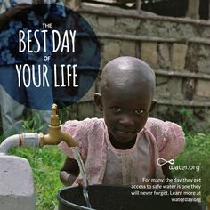For some, the day they get access to safe water could be one of the best days of their life. Celebrate #waterday with Water.org.