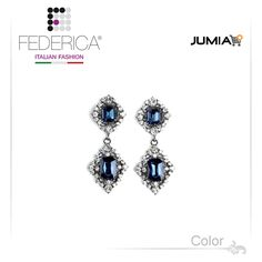 Earrings TOSCA 2  Pendant rhinestone and crystal earrings. Sapphire. 2,300.00 Ksh http://www.federicafashion.com/ep176/earrings-tosca-2/ http://www.jumia.co.ke/federica-fashion/