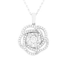 18 CARAT WHITE GOLD PENDANT AND CHAIN Gold Pendant, Diamond Pendant, Pendant Necklace, Be Your Own Kind Of Beautiful, Diamonds, White Gold, Pendants, Chain, Jewelry
