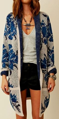 Long Comfy Cardigan,T-Shirt And Short Fashion