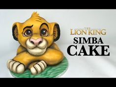 The Lion King is a Classic. I've made Timon and Pumba so now it was time to make the main man Simba! He's all vanilla Cake with chocolate ganache and this v. 3d Cake Tutorial, Fondant Figures Tutorial, Fondant Flower Cake, Fondant Bow, Fondant Cakes, Lion Cakes, Lion King Cakes, Simba And Nala, Lion King Simba