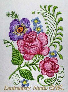 Embroidery design Flower Retro_30 от embroiderystudioONA на Etsy