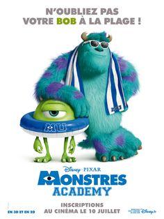 Cet été, n'oubliez pas votre Bob à la plage ! Monstres Academy, c'est au cinéma le 10 juillet. #MonstresAcademy