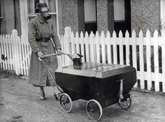 A Gas Proof Pram (1938) A Gas Proof Pram was invented by a resident of Hextable in Kent. Pram was a gas proof and very safe for baby during an air raid.