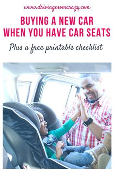 Do you know what to look for when buying a new car to make sure your newborn, toddler, or older child has room for their car seats? Find tips on buying a new car, how to fit car seats properly, and how to avoid problematic seating arrangements. Buying New Car, Car Buying Tips, Best Car Seats, Fit Car, Newborn Care, Car Shop, Used Cars, New Baby Products, Tips
