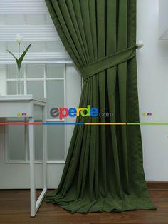 Yeşil Düz Fon Perde(fon Demiri Hediyeli) » Eperde.com