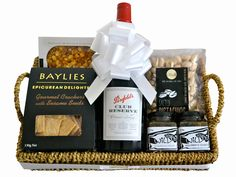 Easter luxury crochet hamper gifts hampers pinterest anytime port gourmet gift hamper negle Image collections