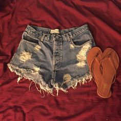 High Waisted Shorts sz 10 Size 10 high waisted shorts                                  • I make all the shorts myself, I can make any size, add rhinestones and differentiate the fray/rips on all shorts! Please feel free to ask for a size!! ☺️ • Shorts Jean Shorts