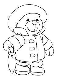 """""""coloriage pour tout petit"""" Mr padington l'ours"""