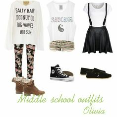 Middle school outfit:3