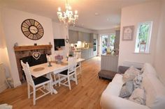 3 bedroom semi-detached house for sale in Moss Lane, Alderley Edge - Rightmove. Open Plan Kitchen Living Room, Kitchen Family Rooms, Open Plan Living, Kitchen Dining, Ikea Dining Room, Stylish Bedroom, Diy Home, Room Set, Style At Home