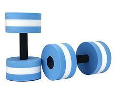 2pcs Water Aerobics Dumbbell MEDIUM Aquatic Barbell Aqua Fitness Pool Exercise Blue ** Check out this great product.