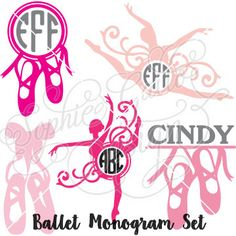 Hey, I found this really awesome Etsy listing at https://www.etsy.com/listing/237903007/ballet-monogram-set-svg-dxf-digital