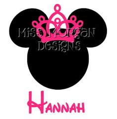 Personalized Tiara Minnie Mouse Disney iron on decal by MissMorgan, $7.00