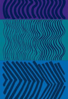 MAIJA ISOLA, Silkkikuikka, fabric pattern for Marimekko Oy, Finland, 1961. Material silkscreen printed cotton. / Pinterest