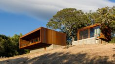 Minnesota-based firm Alchemy Architects has completed a home in California's Sonoma Valley, which comprises two separate prefabricated modules