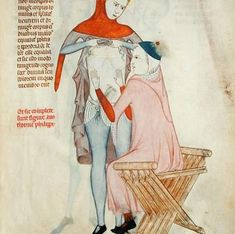 ☤ MD ☞☆☆☆ Doctor examining a patient showing a x-chair with turned low armrests. Miniature from Anatomia of Guy de Vigeganot from Medieval Life, Medieval Art, 14th Century Clothing, Art Roman, Medieval Furniture, Fine Art Prints, Canvas Prints, Late Middle Ages, Medieval Manuscript