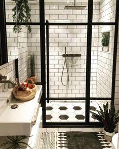 Style At Home, Bathroom Inspiration, Bathroom Ideas, Bathroom Plants, Bathroom Remodeling, Remodel Bathroom, Remodeling Ideas, Shower Ideas, Bathroom Designs