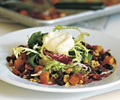 Roasted Butternut Squash Salad with Sherry Maple Vinaigrette Recipe   http://www.finecooking.com/recipes/roasted_butternut_squash_salad.aspx