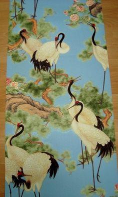 kraanvogels blauw zwart vinyl behang japans chinees oosters vogels 54 abcbehang
