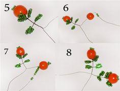 Время работы: 3 дня Сложность: 3 Для создания апельсинового дерева из бисера, вам понадобится все эти материалы. Зеленый бисер грамм 100,несколько крупных бусин штук 25-30,проволока 0,3 мм, проволока 1 мм - для ствола, краски любые (у меня акварель) алебастр - для ствола, клей ПВА и лак (я использовала обычный универсальный). Готовим проволоку 0,3 мм длиной около 80 см.