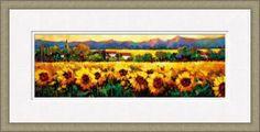 Sweeping Fields of Sunflowers art print
