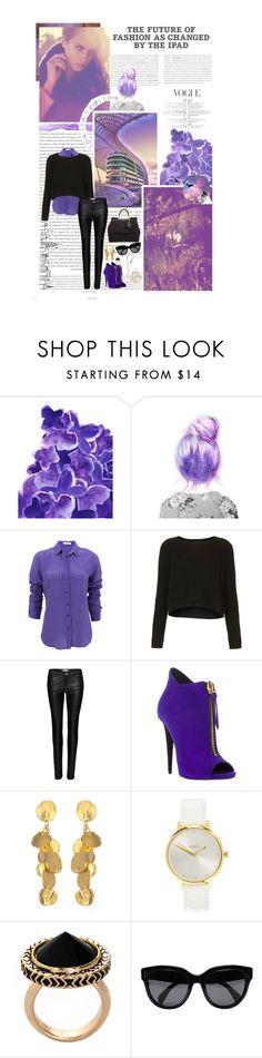 lovely violet by lunalobina on Polyvore featuring moda, Topshop, Equipment, Zoe Karssen, Giuseppe Zanotti, Dolce&Gabbana, Nixon, House of Harlow 1960, CÉLINE and Reality Studio