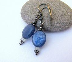 Shoply.com -Denim Blue Kyanite Prenite Silver Earwire Earrings. Only $17.00