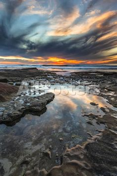 Sunset from the Tide Pools in La Jolla, Ca Landscapes Photographic Print - 41 x 61 cm