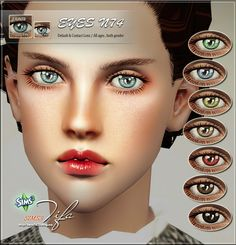 Contacts, lips and eyebrows by Tifa - Sims 3 Downloads CC Caboodle
