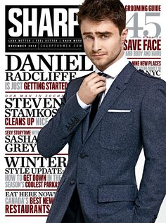 Daniel Radcliffe Covers the November Issue of Sharp Magazine (photographed by Matthew Lyn). Dan Radcliffe joins the #slimsuitwalkoff