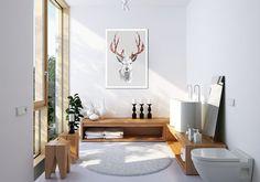 Obraz na płótnie + SKANDYNAWSKI + 70x50cm w LUdesign na DaWanda.com