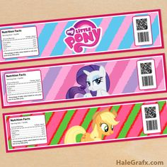 Click here to download FREE Printable My Little Pony Water Bottle Labels!