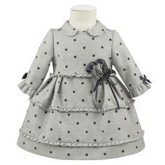 549ff1455 Vestido gris topitos para niña de Kiriki Moda Infantil