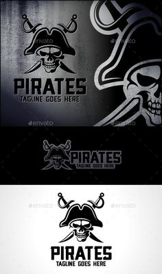 Pirates Logo Template Vector EPS, AI. Download here: http://graphicriver.net/item/pirates-logo-template/11270757?ref=ksioks