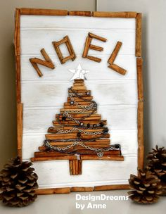 Make a cinnamon stick Christmas tree with jewelry garland, by Design Dreams by Anne, featured on  http://www.ilovethatjunk.com