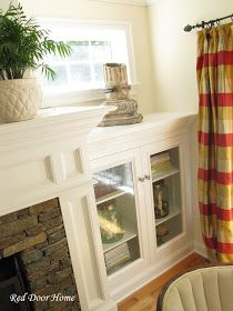 DIY: Built In Cabinets - The Details. Great project! Would be a great addition to my faux fireplace build.