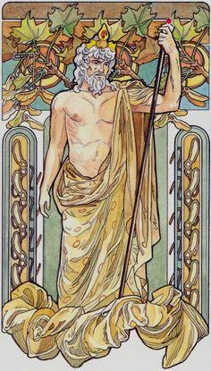 IV - L'empereur - Tarot art nouveau par Antonella Castelli