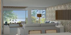 Projeto Desígnio Arquitetos. ALC, apartamento familiar. Varanda e sala de estar. Brasília, Brasil. #desígnioarquitetos#arquitetura #design #decoração